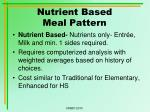 nutrient based meal pattern