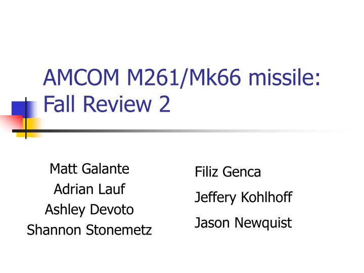 Amcom m261 mk66 missile fall review 2