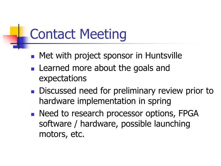 Contact Meeting