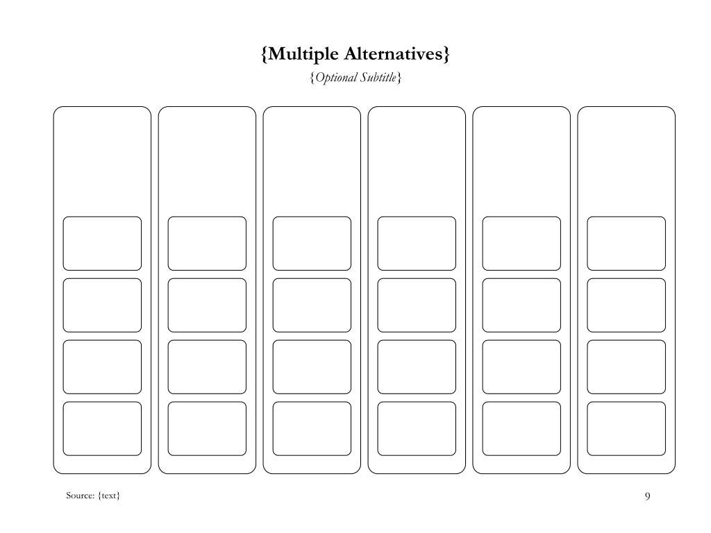 {Multiple Alternatives}