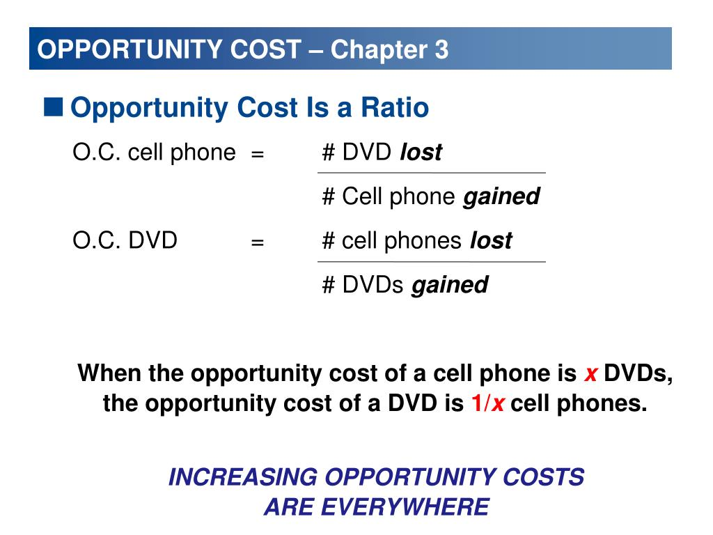 OPPORTUNITY COST – Chapter 3