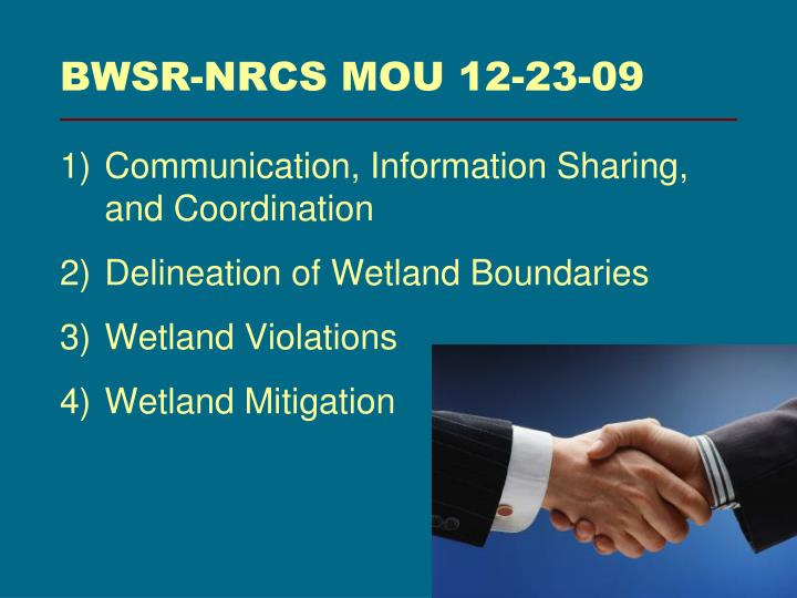 BWSR-NRCS MOU 12-23-09