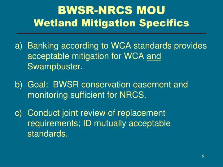 BWSR-NRCS MOU