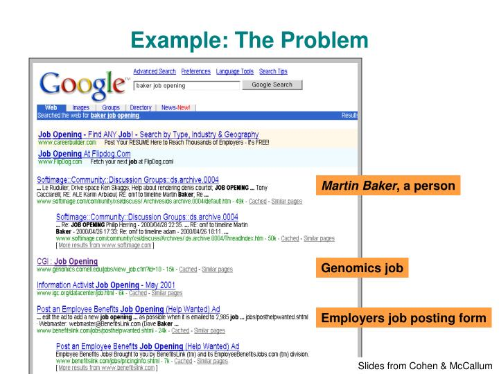 Example: The Problem