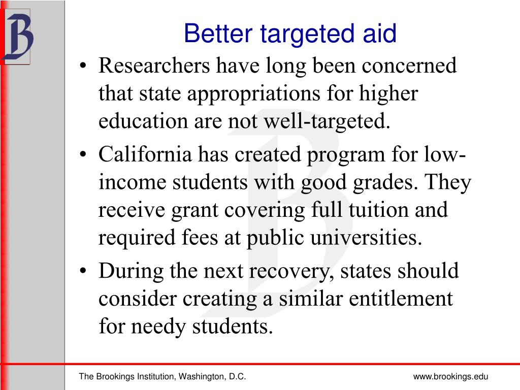Better targeted aid