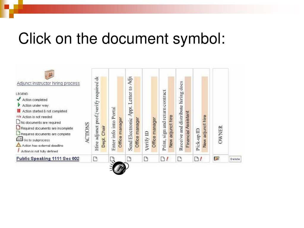 Click on the document symbol: