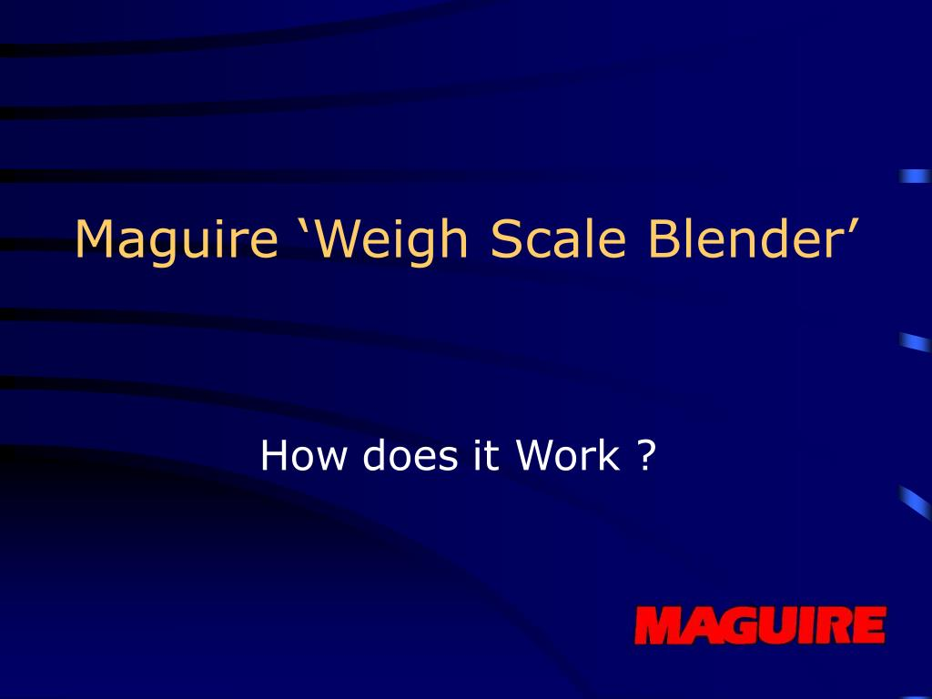 Maguire 'Weigh Scale Blender'