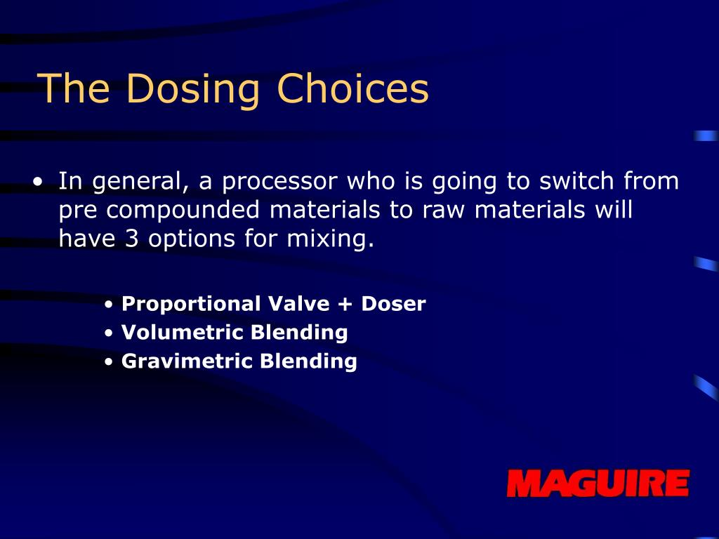 The Dosing Choices