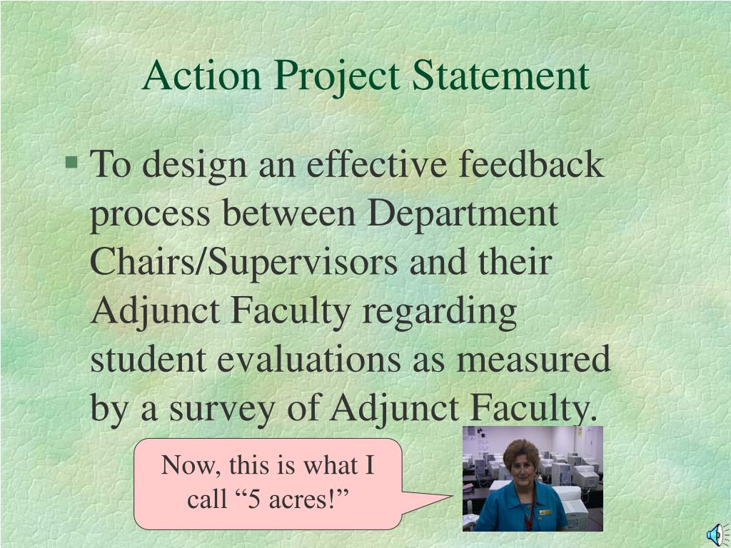 Action Project Statement