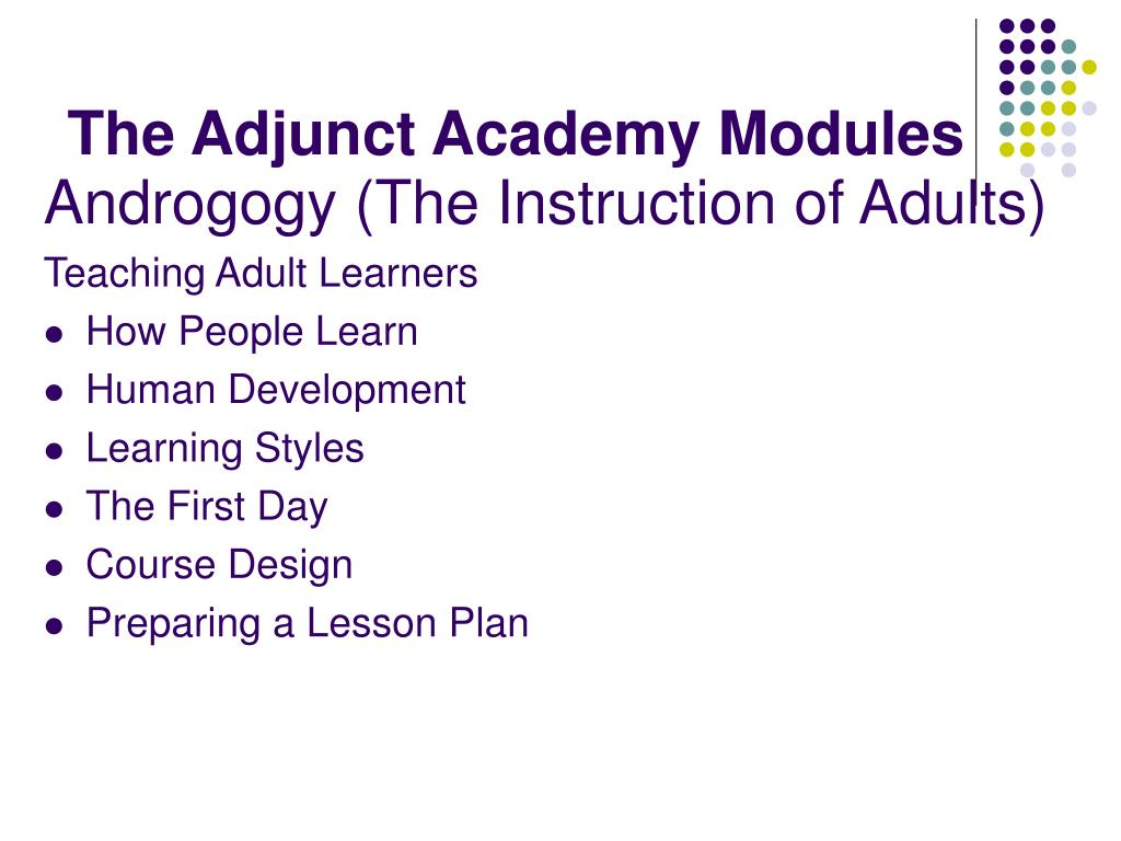 The Adjunct Academy Modules