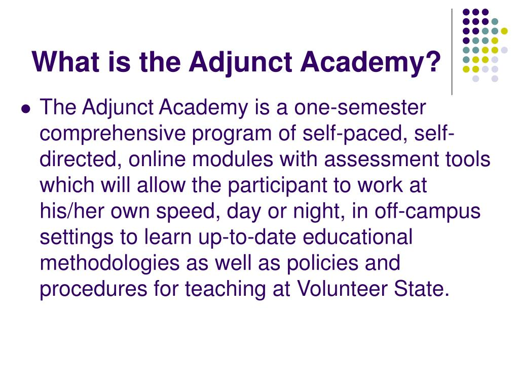 What is the Adjunct Academy?