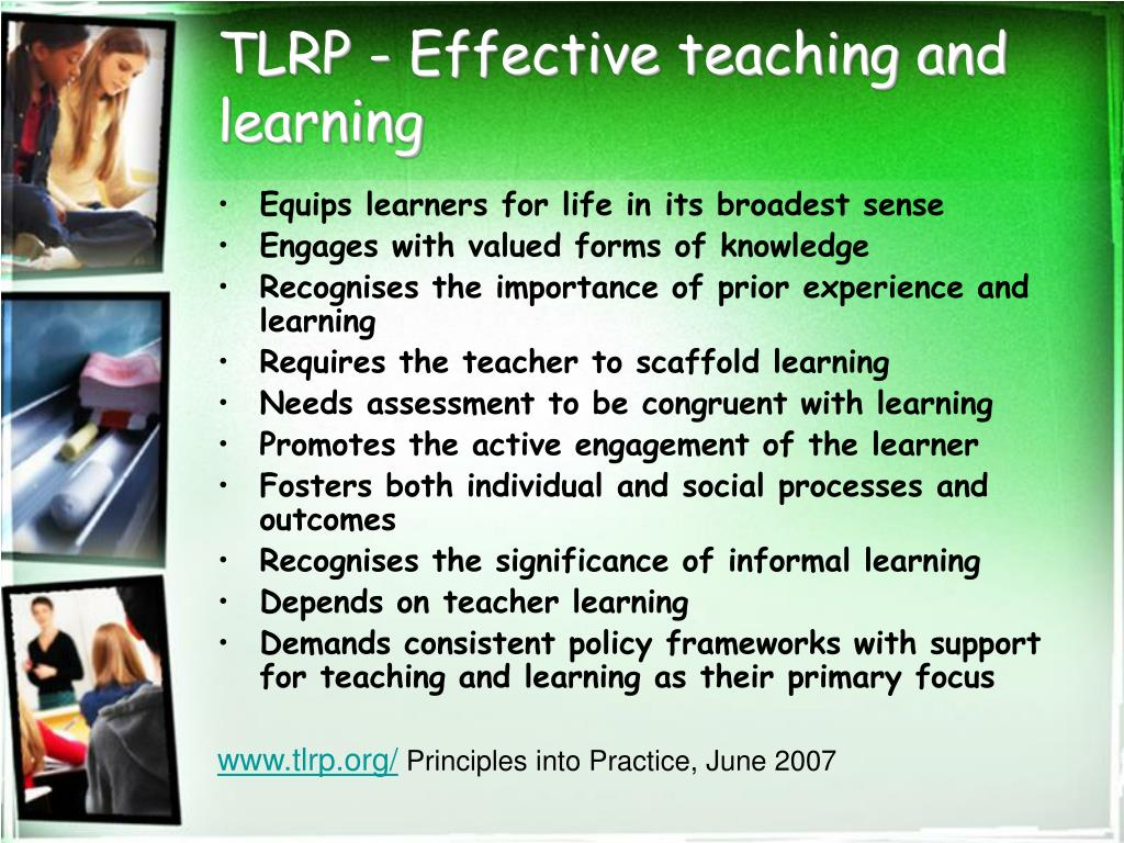 TLRP - Effective teaching and learning