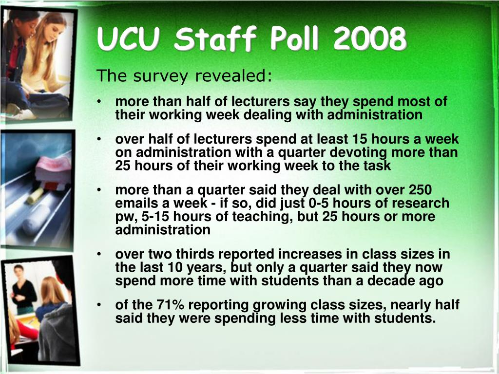 UCU Staff Poll 2008