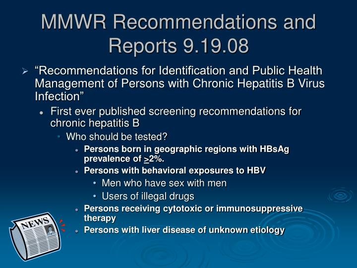 MMWR Recommendations and Reports 9.19.08
