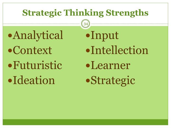 Strategic Thinking Strengths