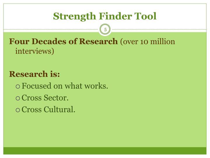 Strength Finder Tool