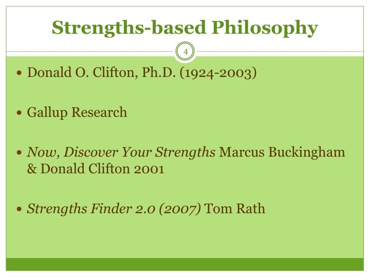 Strengths-based Philosophy
