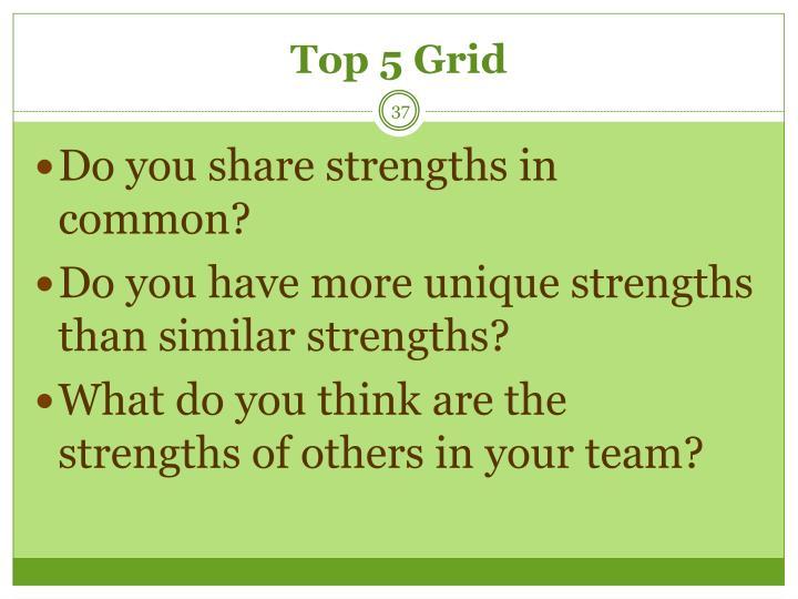 Top 5 Grid