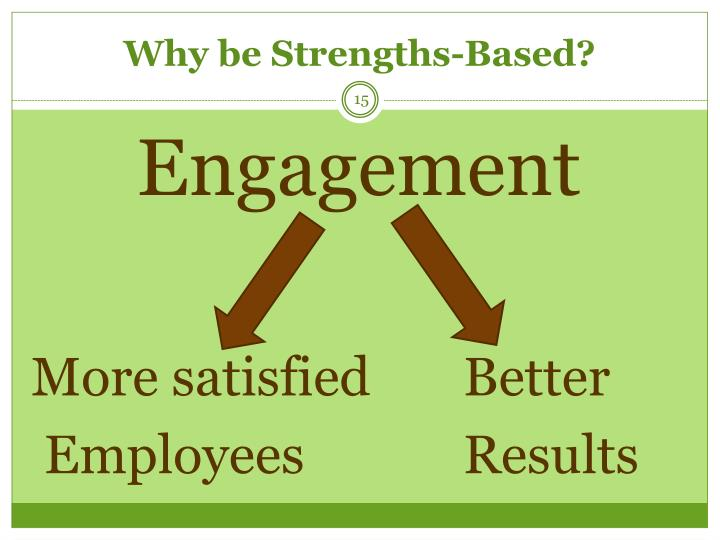 Why be Strengths-Based?