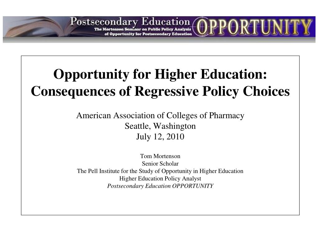 Opportunity for Higher Education: