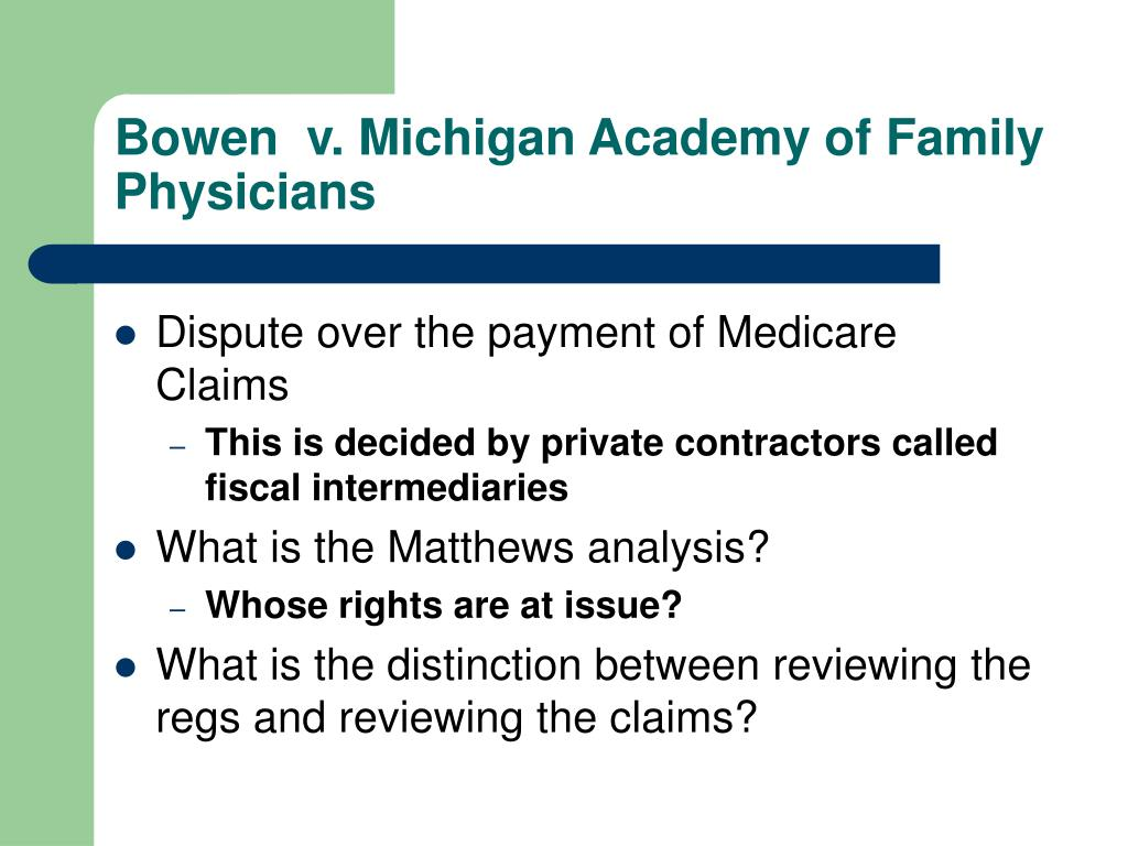 Bowen  v. Michigan Academy of Family Physicians