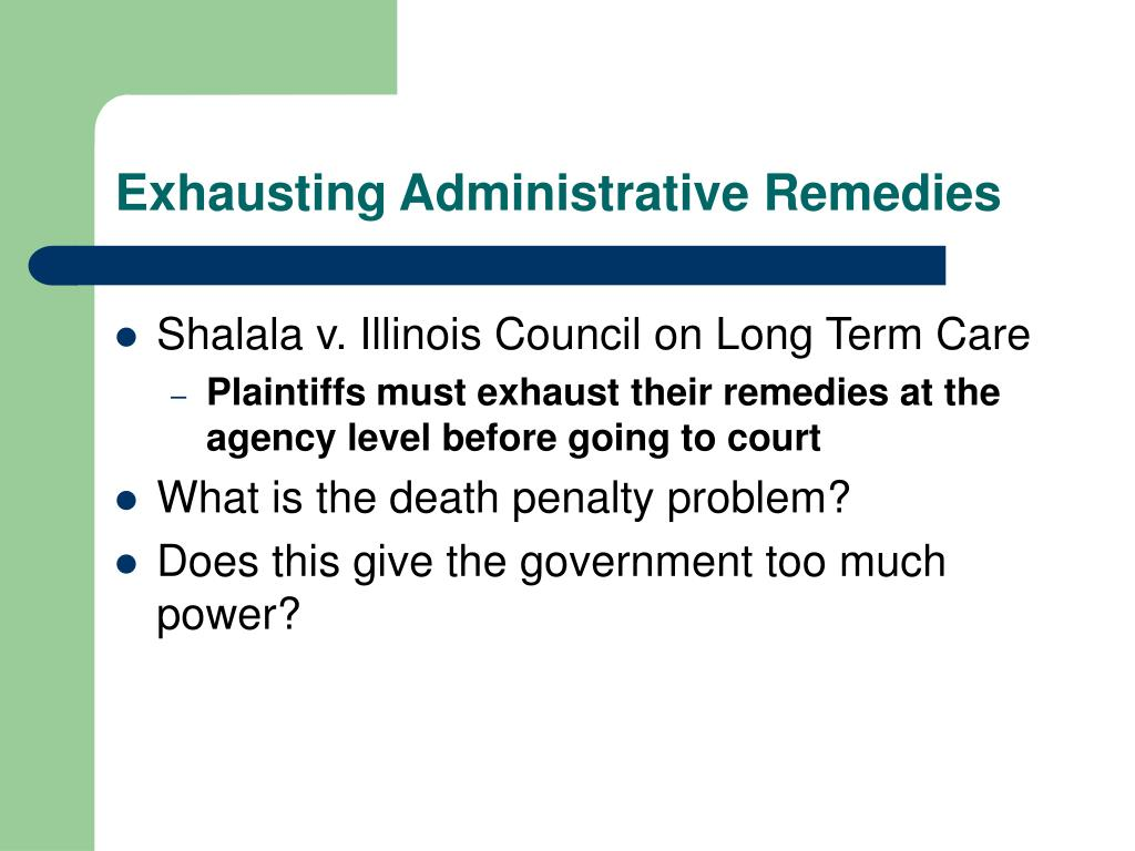 Exhausting Administrative Remedies