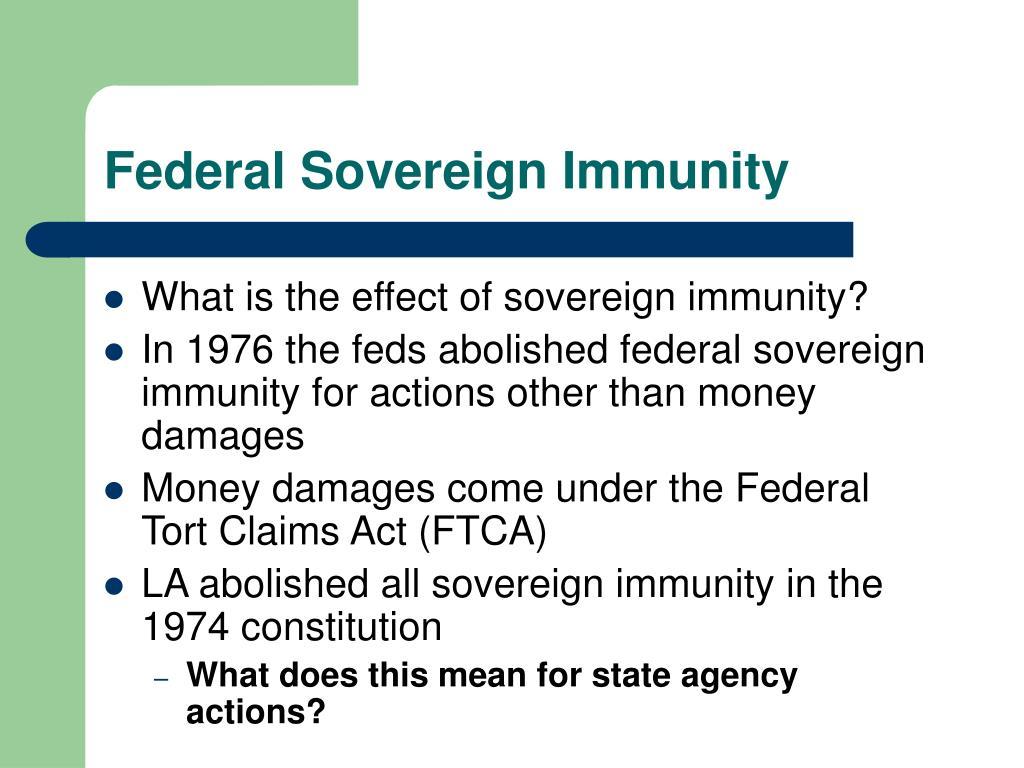 Federal Sovereign Immunity