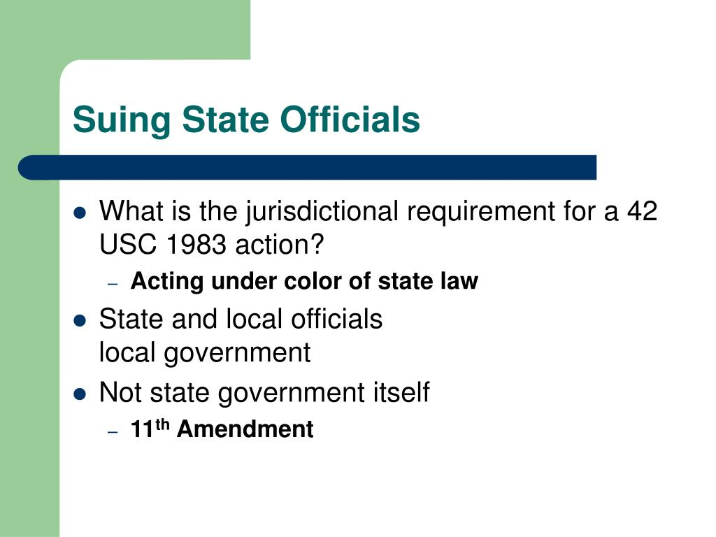 Suing State Officials