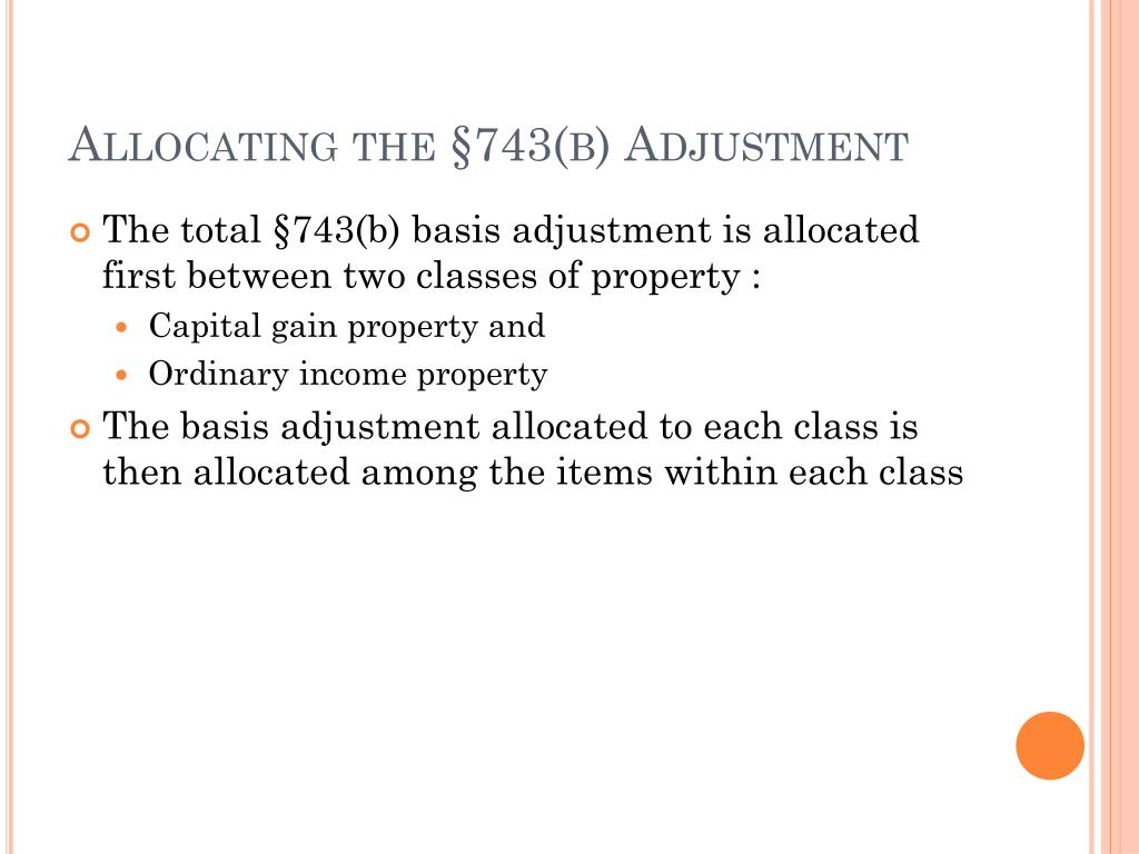 Allocating the §743(b) Adjustment