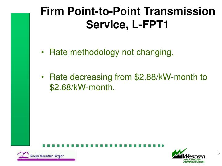 Firm point to point transmission service l fpt1