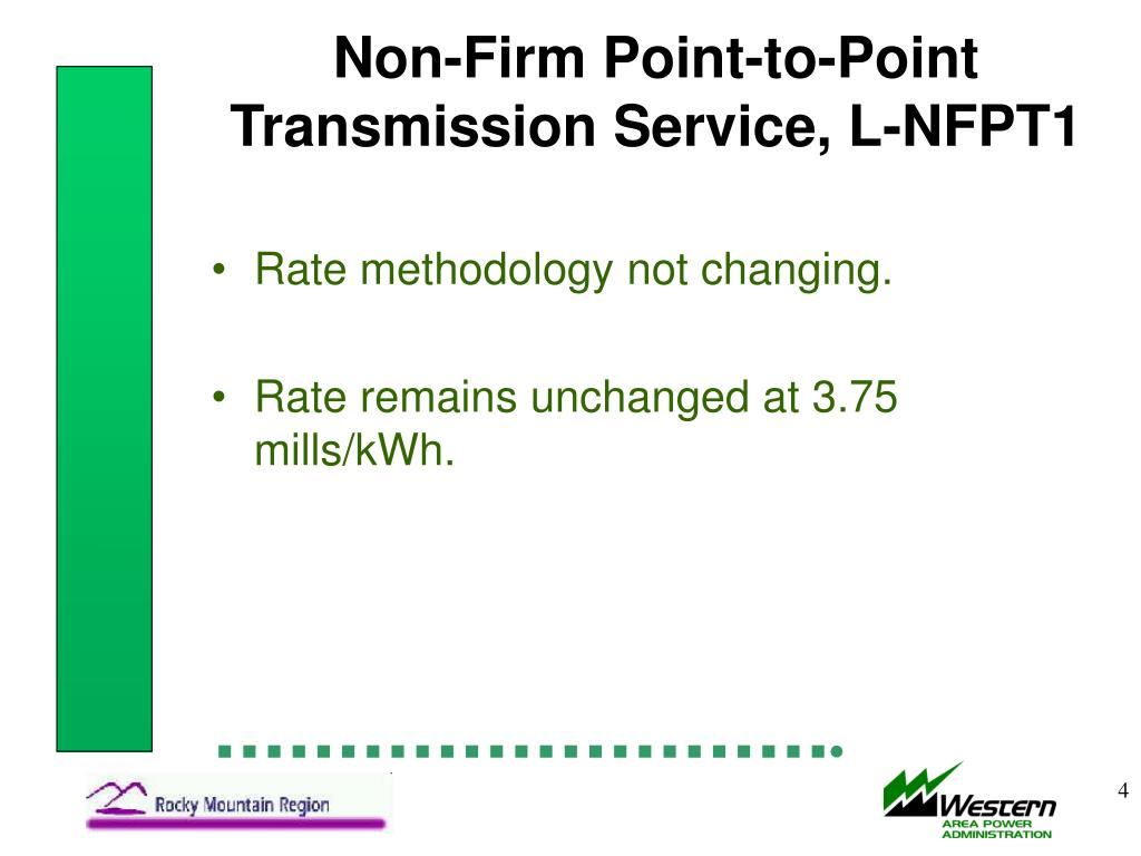 Non-Firm Point-to-Point Transmission Service, L-NFPT1