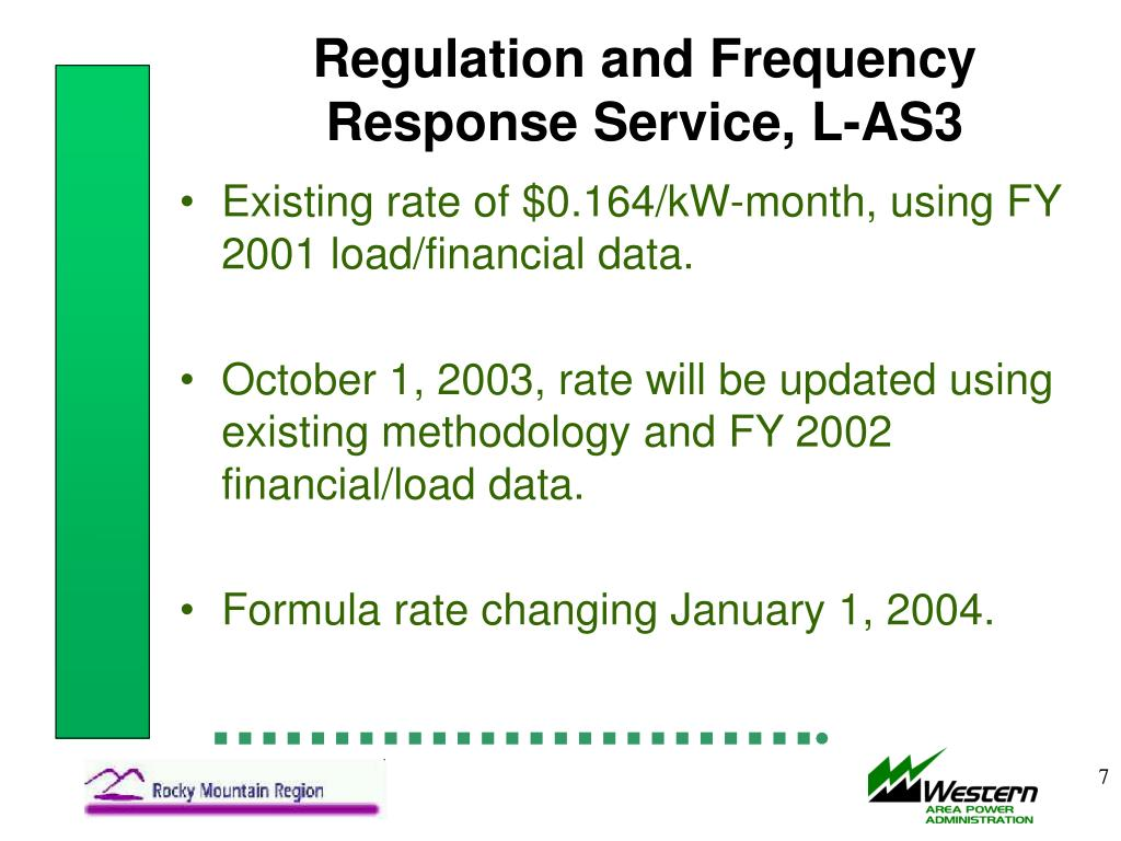 Regulation and Frequency Response Service, L-AS3