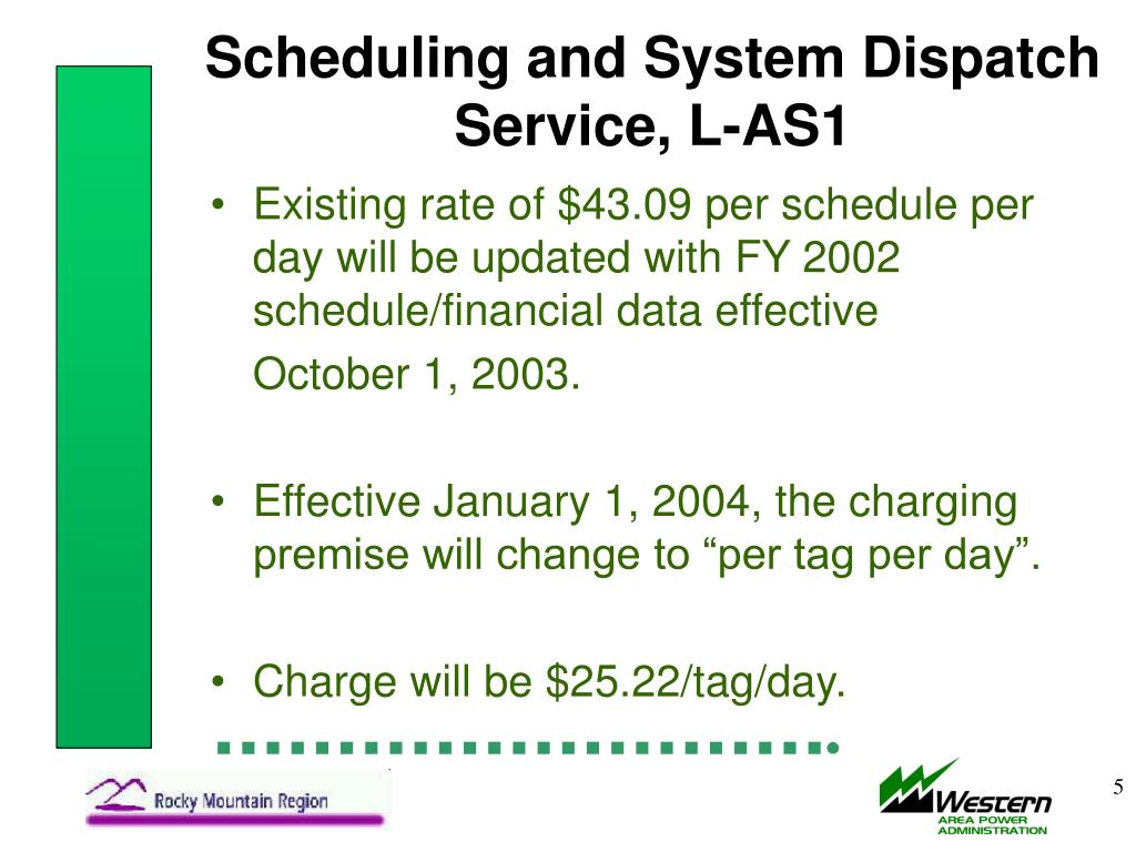 Scheduling and System Dispatch Service, L-AS1