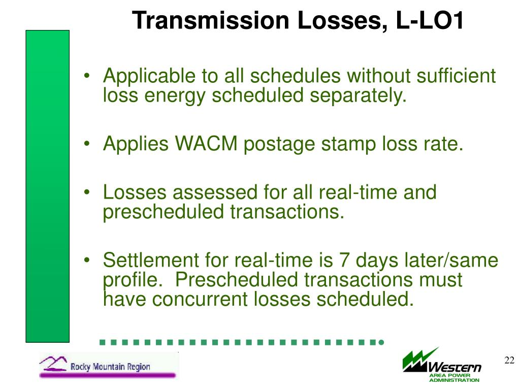 Transmission Losses, L-LO1