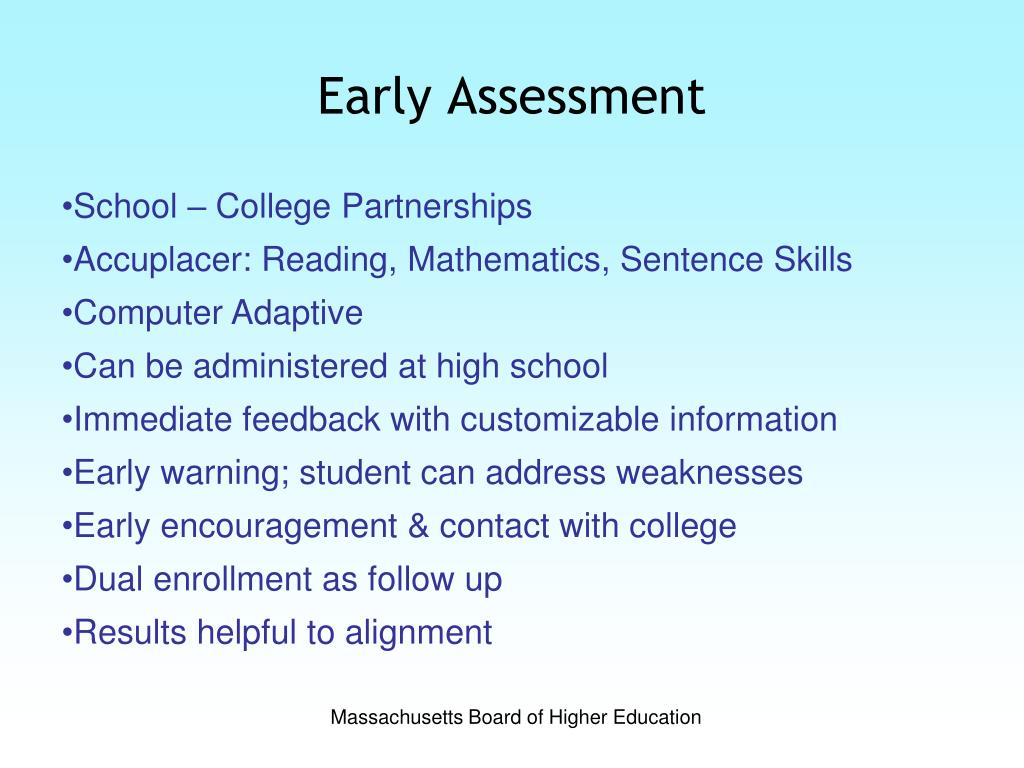 Early Assessment