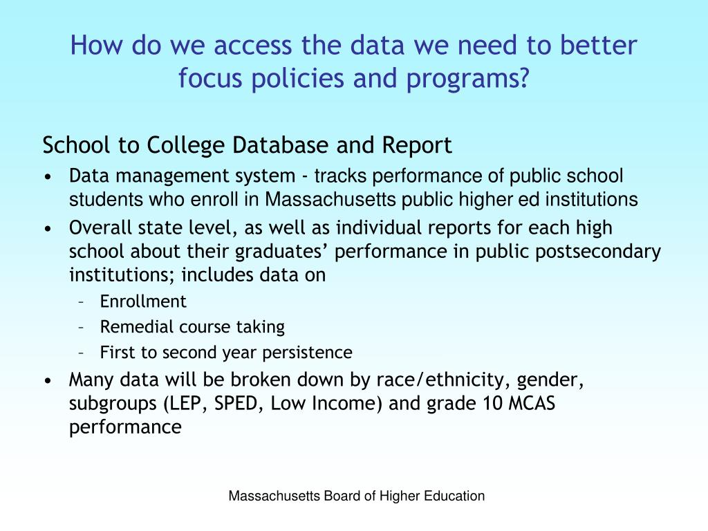 How do we access the data we need to better focus policies and programs?