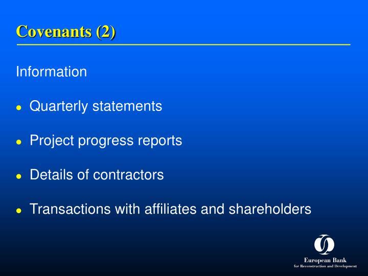 Covenants (2)