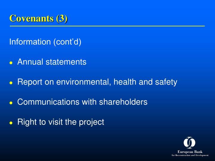 Covenants (3)