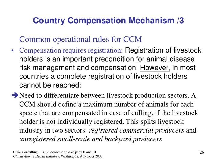 Country Compensation Mechanism /3