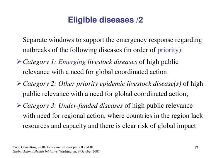 Eligible diseases /2