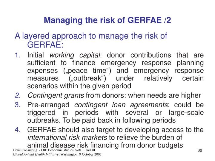 Managing the risk of GERFAE /2