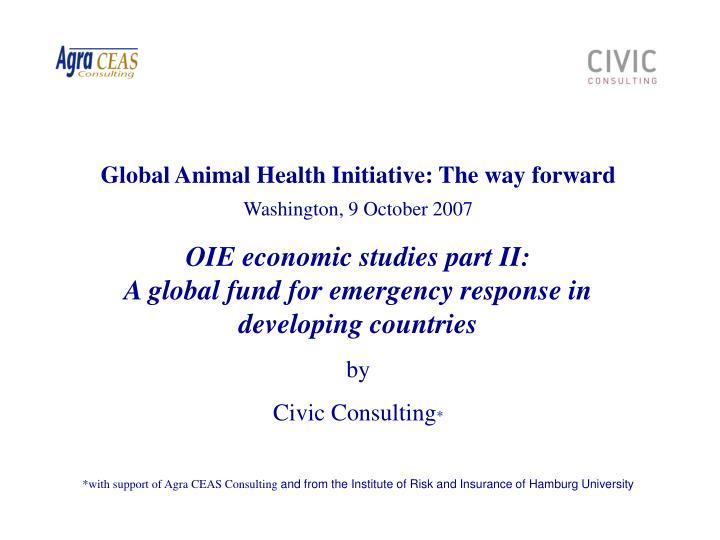 Global Animal Health Initiative: The way forward