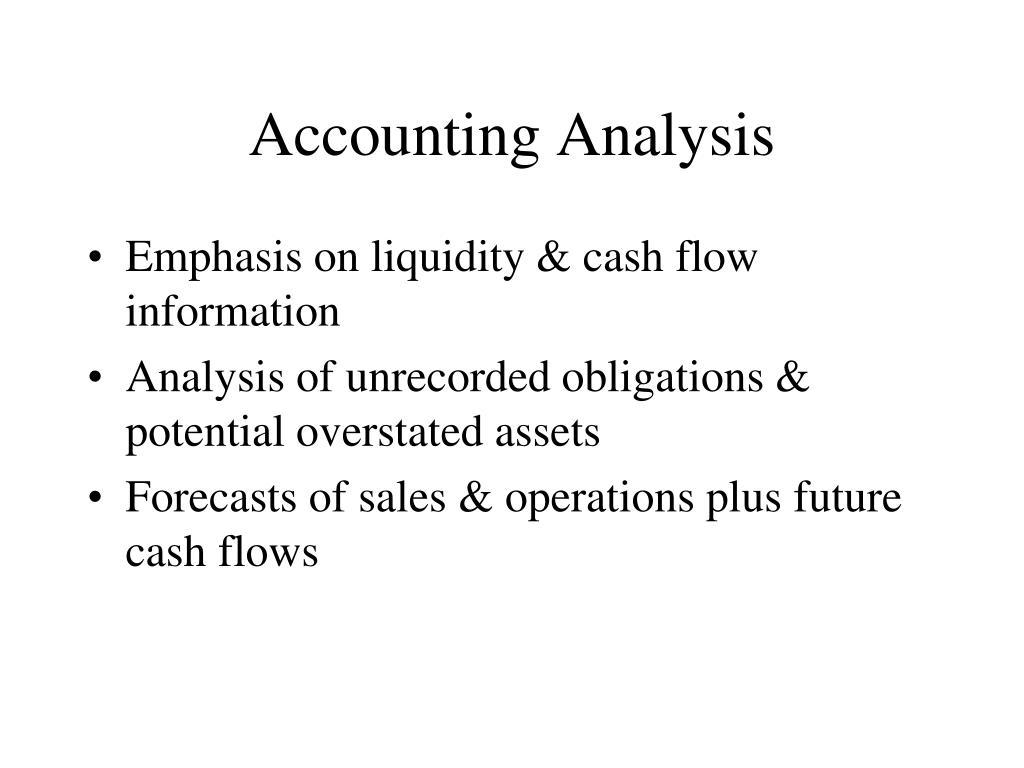 Accounting Analysis