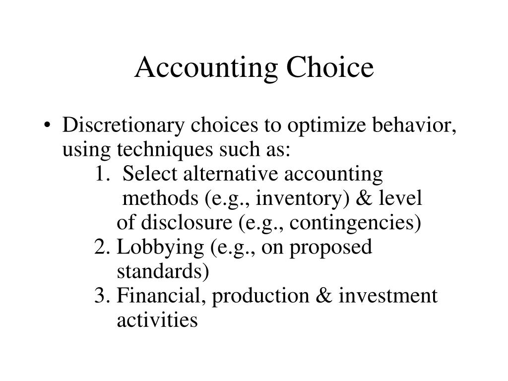 Accounting Choice