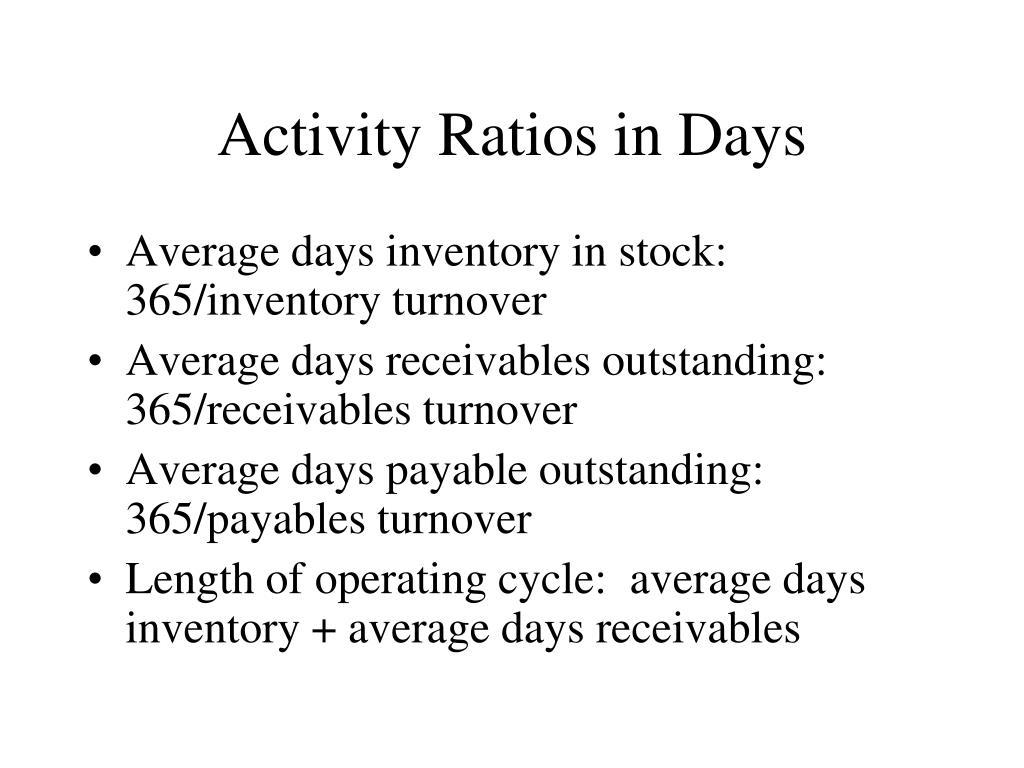 Activity Ratios in Days