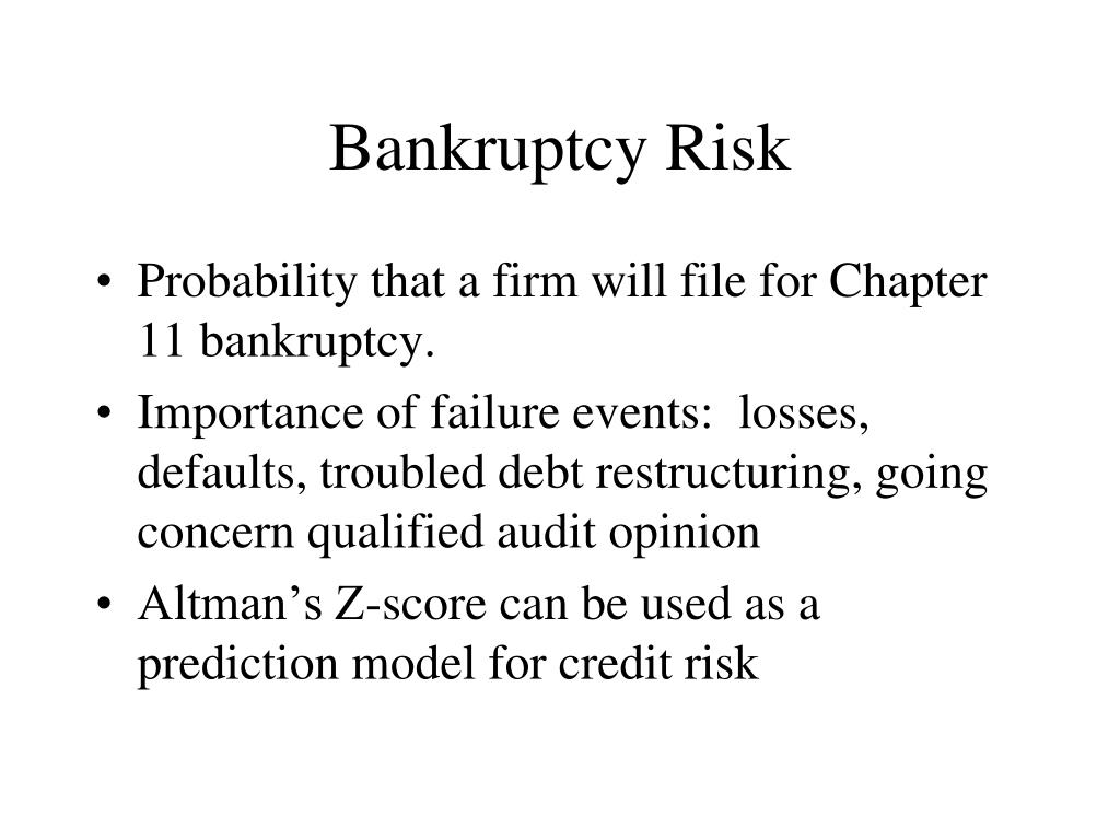 Bankruptcy Risk