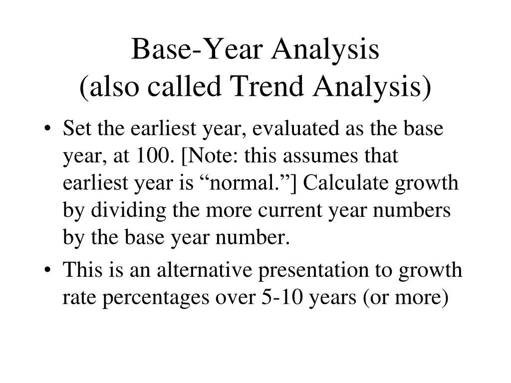 Base-Year Analysis