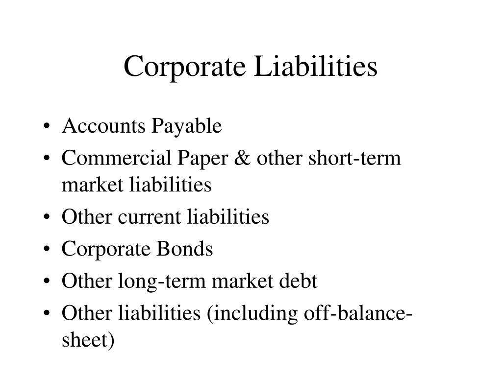 Corporate Liabilities