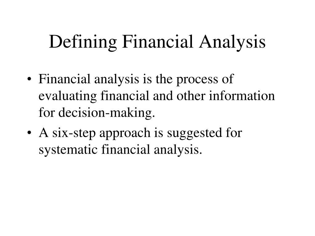 Defining Financial Analysis