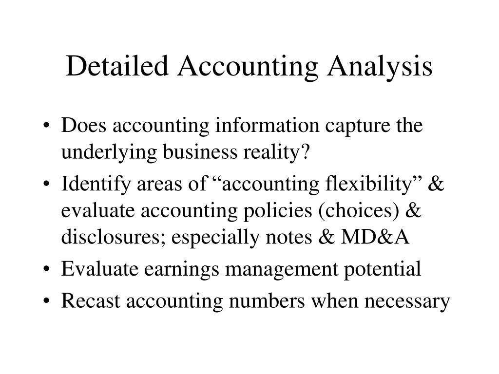Detailed Accounting Analysis